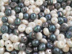 Free Shipping!!! LK-1895 Natural freshawater pearl, mixed white and black bread pearl 1000pcs/lot $155.66