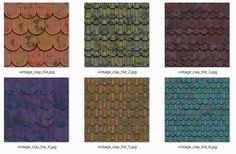 Gamedev - 6 Roofs - CC0 License #gamedev #indiedev #textures #cgtextures