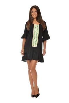 Rochie de zi cu motiv traditional CBM1021 -  Ama Fashion Shirt Dress, T Shirt, Dresses, Fashion, Moda, Shirtdress, Tee Shirt, Vestidos, Fashion Styles