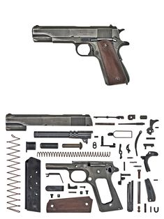 United States of America – Colt Model 1911A1 The 1911 hardly needs an introduction but let's cover some basics anyway. John Browning had been developing a series of semi-automatic pistols nearing the turn of the century. His Model 1900 pocket pistol, manufactured by FN, had gained him international fame, but his other Model 1900, one licensed by Colt, would ultimately evolve into a legacy. This pistol used a barrel held by two links (front and rear) to the frame. When discharged the recoil…