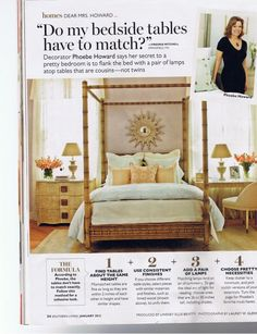 The color pallete of this bedroom stopped me in my tracks..lavender, peach and soft aqua and she keeps it from becoming too sweet by using modern furnishings.  In. love.