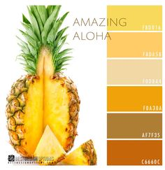 Summer Color: Yellow Pineapple Hues