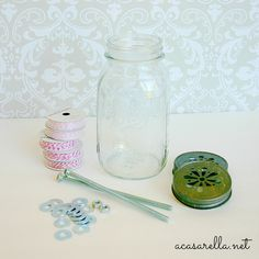 Mason Jar Twine Holders | 'A Casarella