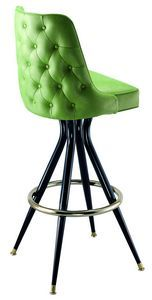 the tufted back bar stool is vintage traditional with good looks and the strength you look