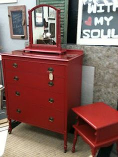 Linda's Colonial Red Dresser
