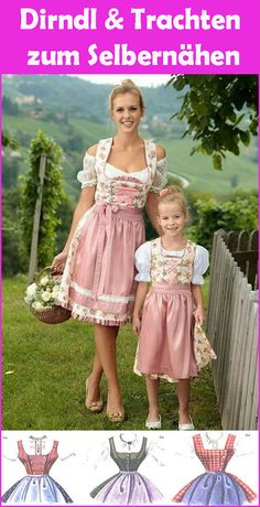 Sew dirndl and traditional fashion yourself - free instructions & patterns - Sew a dirndl yourself – is that even possible? At first glance, dirndl patterns and sewing instru - Traditional Fashion, Traditional Outfits, Girl Outfits, Fashion Outfits, Womens Fashion, Fashion Fashion, Houndstooth Dress, Babydoll Dress, Mens Clothing Styles