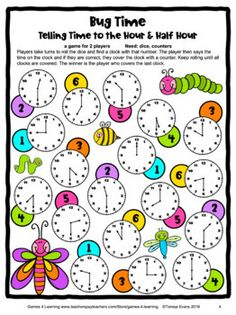 Free Time Game: Telling Time to the Minute Game by Games 4 Learning Telling Time Games, Telling Time Activities, Teaching Time, Math Activities, Minute Game, The Minute, Second Grade Math, Fourth Grade, Time To The Hour