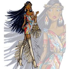 Pocahontas: Disney Diva Fashionistas by Hayden Williams @hayden_williams Instagram photos | Websta (Webstagram)