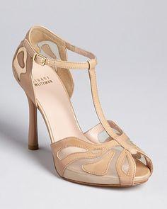 Women's Luxury Shoes. Stuart Weitzman Peep Toe Platform Sandals ...