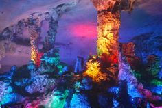 The Reed Flute Cave in Guilin, Guangxi, China