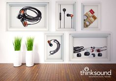 thinksound™ was founded with one simple goal; to create incredible sounding headphones with the smallest eco-footprint possible. The headphones are made with real wood, creating a more natural resonance and unparalleled acoustics. http://www.cleverkit.com/audio/by-brand/thinksound