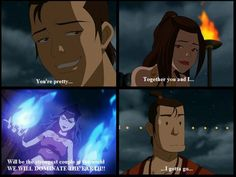 Avatar: The Last Airbender  HILARIOUS. Azula freaks out random stranger guy and then wonders why she can't get a date..