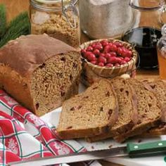 "Holiday Cranberry Yeast Bread Recipe -""Wonderful aromas permeate the house while this bread is baking!"" notes Joan Hallford, North Richland Hills, Texas. ""My family loves it hot from the oven. The cranberries give each slice a yummy hint of sweet-tart flavor...and the whole wheat flour adds a healthy touch to our holiday menus."""