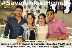 More images for the Monday night #SaveAlmostHuman tweet-outs! Please re-pin, tweet with us, and MAIL SOME NOODLES! :) We need Karl Urban and Michael Ealy back on TV!