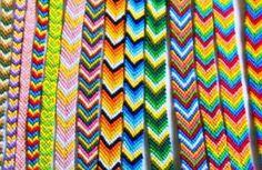 bracelet bresilien tissage chevron coloree tendance ethnique realisation technique tuoriel tutoriel