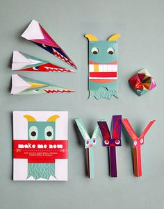 Printable Paper Toy pack - 8 paper craft activities for kids