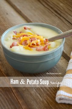 Ham and Potato Soup Recipe| theidearoom.net