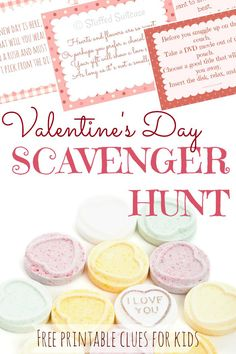 Looking for a fun activity for kids this Valentine's Day? Use these free printable valentines scavenger hunt clues to hide a little gift or treat for your kids and watch them solve the riddles to find the prize! StuffedSuitcase.com
