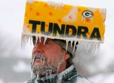 Packers go pack go frozen tundra