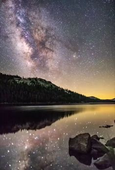 The Milky Way over Yosemite National Park. - Charlotte Schmidt - The Milky Way over Yosemite National Park. The Milky Way over Yosemite National Park. Beautiful Sky, Beautiful Landscapes, Landscape Photography, Nature Photography, Nikon Photography, Photography Ideas, Time Lapse Photography, Photography Flowers, Photography Tutorials