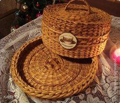 Поделка изделие Плетение Потрудилась я на славу   Трубочки бумажные фото 1