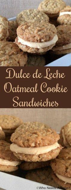 Dulce de Leche Oatmeal Cookie Sandwiches #FreakyFriday