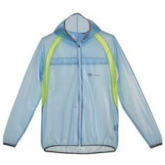 RockBros al Aire Libre Bicicleta Ciclismo Impermeable Windproof Hooded Chubasqueros Chaqueta para Unisex (Azul, M)