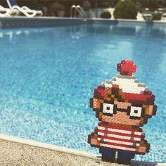 Waldo/Wally hama beads by bassobrevis