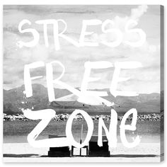Oliver Gal 'Stress Free Zone' Canvas Art