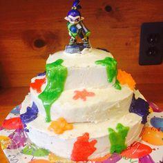 #splatoon #nintendo #cakes Made my brother a splatoon cake for his birthday!