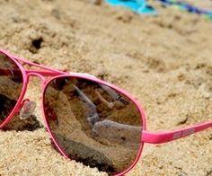 sun & sand & pink glasses