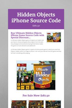 Hidden Objects iPhone Source Code for sell