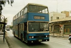 """Leyland Olympian of another K. bus station on Lission, an Athens Bristol (Leyland) """"Olympian"""" rushes past. Bus Station, Busses, Athens Greece, Olympians, Bristol, Past, Transportation, Classic Cars, Advertising"""