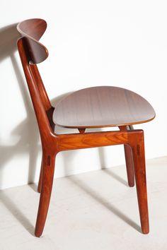 Teak Dining Chair                                                             designed by Vilhelm Wohlert in 1958.