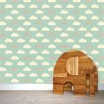 Blå Wallpaper, tapet til børneværelse | Wallpaper tapet, wall sticker | w:form