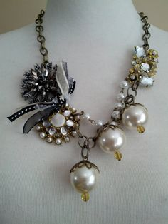 Love this Etsy store so many cute shabby chic necklaces!