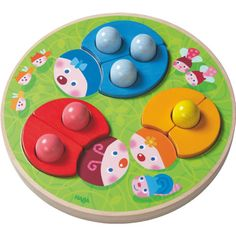 This tile game lets your child mix or match the colors of 3 lady bugs' wings and dots, again and again. Tiles Game, Educational Toys For Toddlers, Beetle Bug, Lady Bug, Bunt, Your Child, Wings, Dots, Plates