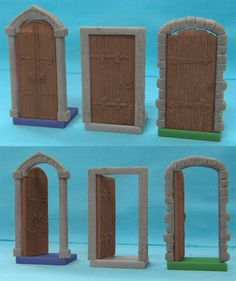 3D Doors Pack. Please note that the floor piece in these pictures is still a work in progress. The final piece will be a stone floor.