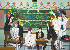 Makoharu, Yamazaki Sousuke, Haruka Nanase, Free Eternal Summer, Free Iwatobi Swim Club, Kaichou Wa Maid Sama, Summer Special, Free Anime, Anime Manga