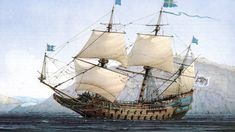 Vasa 1627 sunk in her maiden voyage Ship dimensions was x m, and displacement c. 1200 t. Lenght from figurehead to stern gallery was meters. Old Sailing Ships, Ship Paintings, Wooden Ship, Nautical Art, Sea Art, Armada, Tall Ships, Model Ships, Battleship