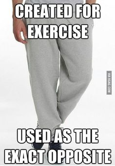 I love my sweats. Men's are the best!