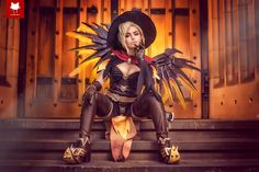Witch Mercy (Overwatch) by Zalaria Cosplay, photography by Steamkittens