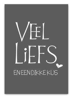 """Love & hug Quotes : QUOTATION – Image : Quotes Of the day – Description Kaart """"Veel liefs"""" donkergrijs Sharing is Caring – Don't forget to share this quote ! Hug Quotes, Respect Quotes, Words Quotes, Best Quotes, Sayings, Friend Quotes, Dutch Words, Facebook Quotes, Qoutes About Love"""