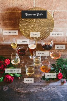 Check out this awesome Glassware Guide with @crateandbarrel glasses from 100 Layer Cake. It's like your wedding glassware shopping is already done!
