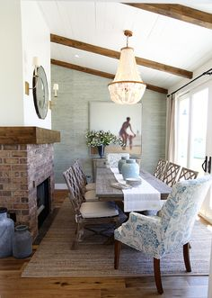 dining rooms with fireplaces | decorating files