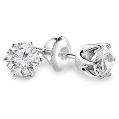 - Majesty Diamonds - 1 1/4 CTW 6-Prong Solitaire Diamond Stud Earrings in 14K White Gold with Screw Backs (SI1-SI2), $2,549.00 (http://www.majestydiamonds.com/1-1-4-ctw-6-prong-solitaire-diamond-stud-earrings-in-14k-white-gold-with-screw-backs-si1-si2/)