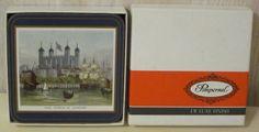 MIB Pimpernel London England Landmarks Tower Abbey Regent Six Deluxe Coasters  #Pimpernel