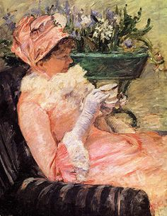 Mary Cassatt - The Cup of Tea, 1881 at New York Metropolitan Art Museum   por mbell1975