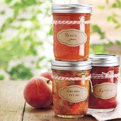 Homemade Sauces (canning) - homemade ketchup, peach cinnamon jam, summer garden relish, homemade pickles