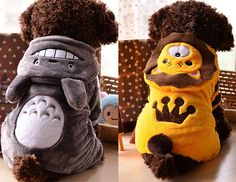 Cute Pet Clothes Totoro Cosplay Dog Clothing Hoodie Warm Coat Puppy Cat